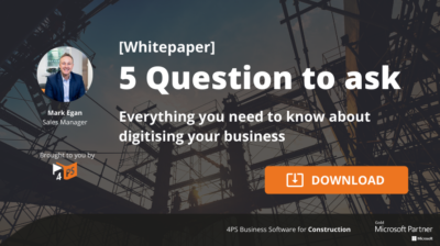 5 Questions to ask about digitising your business